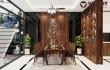 Thiết kế nội thất gỗ óc chó đẹp hiện đại nhà anh Đức - Hàng Mã - Hà Nội