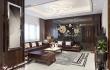 Không gian nội thất phòng khách đẹp sang trọng với gỗ óc chó