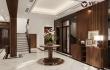 Thiết kế không gian gỗ óc chó phòng khách của chủ đầu tư tại Hải Phòng