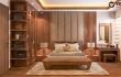Thiết kế nội thất phòng ngủ gỗ óc chó phong cách hiện đại 2020