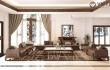 Vẻ đẹp nội thất gỗ óc chó biêt thự Bắc Giang chân thực cuốn hút