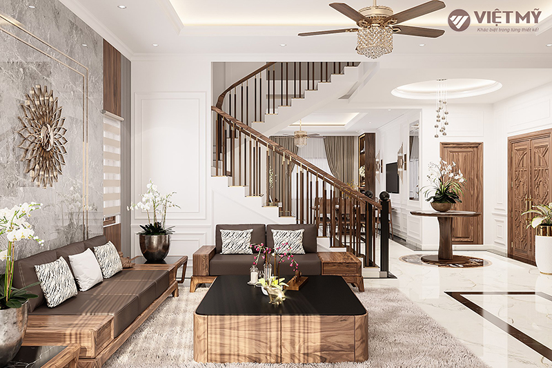 Không gian nội thất gỗ truyền cảm hứng nghệ thuật